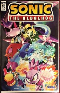 SONIC The HEDGEHOG Comic Book IDW #10 October 2018 Silver Bagged & Boarded MINT
