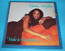 Donna McGhee Make It Last Forever LP Vinyl (UK Anchor Records) 1st UK Press1978