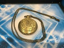 DOCTOR DR WHO GIFT / NOVELTY - GALLIFREY STYLE POCKETWATCH ON CHAIN - UK SELLER