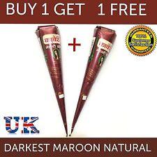 Compre 1 lleve 1 GRATIS oscuro marrón Henna Tatuaje Temporal Conos-Calidad Premium
