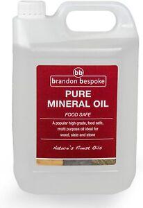 Brandon Bespoke Pure Mineral Oil - For Wood, Slate & Stone - Food Safe - 5 Litre