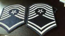 Lot of 2 SILVER AND BLUE MILITARY PATCHES BARS(SHOULDER PATCHES) AIR FORCE