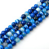 4mm 6mm 8mm 10mm 12mm Natural Blue Agate Gemstone Round Spacer Loose Beads