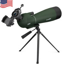 SVBONY 20-60x80mm BAK4 Prism Refractor Angled Spotting Scopes+ Phone Adapters US