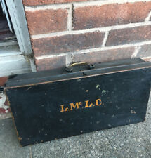 More details for decorative antique deed box - storage box - monogram to front