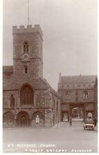 Abingdon Church Abbey Gateway RP old pc used 1925 Arrow Fleet Wood