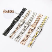 22mm Straight End Solid Screw Links New Style Jubilee Bracelet Watch Band Strap