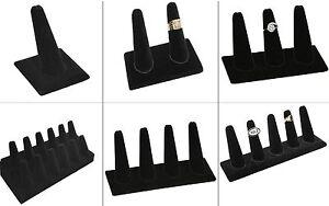 Black Velvet Finger Ring Display Showcase Displays Jewelry Display Ring Holder