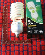BOXof 6 new GROW LIGHT BULB 105w fluorescent 5000K Full Spectrum 7000 lumen CFL