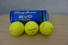 3 Tommy Armour Yellow Golf Balls 2 Layer EVO Slightly Used GREAT condition