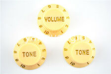New Cream 1 Volume&2 Tone Guitar Control Knobs For Fender Strat Style Guitar