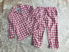 M&S Autograph Girls pyjamas Age 3-4 Pink Gingham
