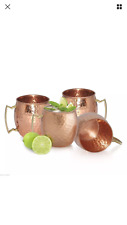 4 Moscow Mule Copper Mug (In & Out) NO PLATING OR LINING 18 oz Yoga Ayurveda NEW