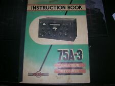 Collins 75A-3 Radio Receiver Original Factory Owner's Manual & Schematic