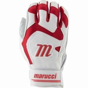 Marucci Signature Batting Gloves Pair MBGSGN2 - White/Red - XXL