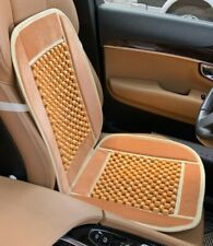 ONE BEIGE NATURAL WOODEN BEADS VELVET CAR COMFORT MASSAGE SEAT COVER CUSHION 190