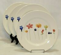 Royal Stafford Spring Multi-Color Floral Porcelain Dinner Plates Set of Four New