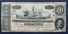 USA, $ 20 DOLLARS 1864, THE CONFEDERATE STATES OF AMERICA (PL)