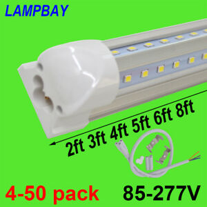 LED Tube Lights V shaped 2ft 3ft 4ft 5ft 6ft 8ft Bar Lamp T8 Integrated Fixture