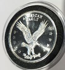 American Eagle & Liberty Bell Collectible Coin 1 Troy Oz .999 Fine Silver Round