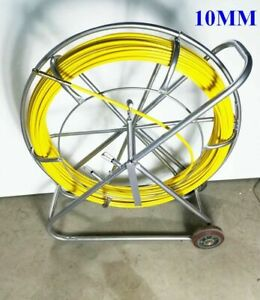 Duct Rodder Fish Tape Continuous Fiberglass Wire Cable Running Puller 10mm 492Ft