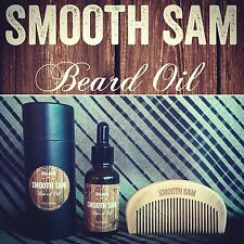 Smooth Sam SALOON Beard Oil 30ml WITH peach wood Beard And Mo Comb