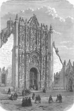 MEXICO. Entry to Cathedral  1880 old antique vintage print picture