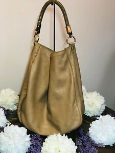 Authentic YSL Yves Saint Laurent Roady Leather Hobo Bag Made in Italy