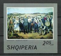 27150) ALBANIA 1974 MNH** Nuovi** Painting s/s