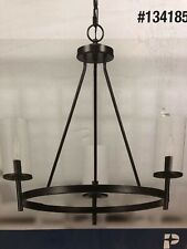 Progress Lighting 1341850 Strahan Collection 3-Light Chandelier Black-P500265031