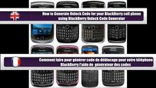 "Code de déblocage Unlock ""BLACKBERRY"" international.  SFR ORANGE BOUYGUE......"