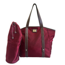 LANCEL RED MAROON TOTE BAG AND TUMBLET BAG SET
