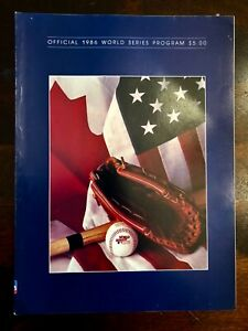 1986 WORLD SERIES PROGRAM MLB NEW YORK METS VS BOSTON RED SOX Excellent to Mint
