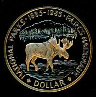 "1985 Canadian $1.00 Silver Specimen Proof Dollar -""National Parks Centennial"""