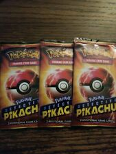 Detective Pikachu Promo POKEMON Cards 3 Packs LOT