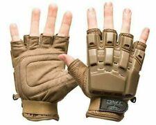 New Valken V-Tac Half Finger Paintball Airsoft Gloves - Tan - Medium/Large