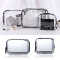 Clear Transparent PVC Travel Cosmetic Makeup Toiletry Organizer Zipper Bag Pouch