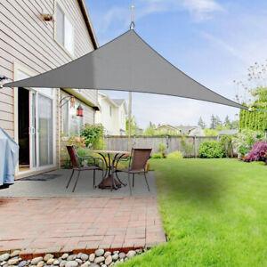 Sonnensegel Dreieck Sonnenschutz Segel Beschattung UV-Schutz Anthrazit 2x2x2m