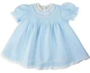 NWT Feltman Brothers Blue Lace Vintage Slip Dress 3 6 9 Months Baby Girls