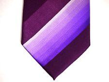 "Mens Necktie Tie Purple Diagonal Striped 100% Silk 59"""