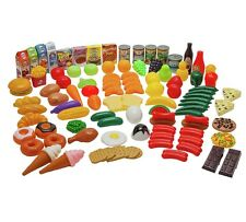 Play Food Set 120 Piece Kids Childrens Creative Educational School Toys Plastic