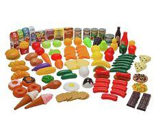 Play Food Set 120 Piece Kids Childrens Creative Educational School Toys Plastic
