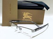 AUTHENTIC BURBERRY BE1156 1003 Gunmetal 52/17/140 Half Rimless Men's Eyeglasses
