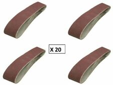 Lot de 20 bandes abrasives de ponçage grain 80 100 x 915 mm REF 186813