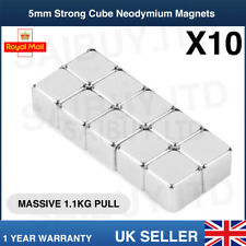 10x  * 5mm Cube * Strong Magnets Neodymium 1.1Kg Pull Rare Earth Block Magnetic