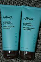 2X AHAVA Hydrate Hydration Cream Mask 3.4oz/100mL SEALED NEW Lot of 2