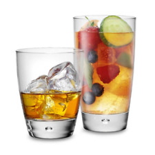 Luna 16-Piece Glassware Set - 8 11.5Oz Old Fashioned, 8 15Oz Highball, Glass
