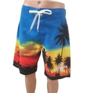 Men's Corona Beer Swim Trunks Shorts, Large