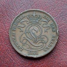 Belgium 1848/38 copper 10 centimes