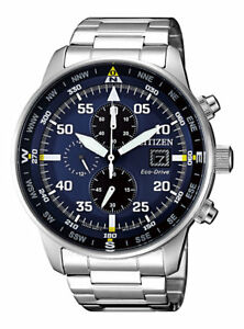 Citizen Crono Aviator Men's Eco Drive Chronograph Watch - CA0690-88L NEW